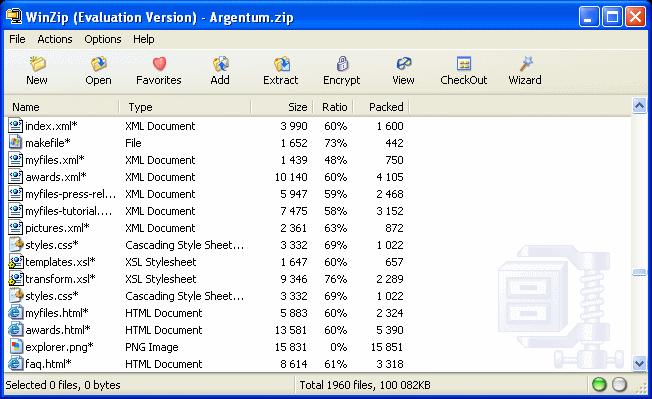 compress zip file